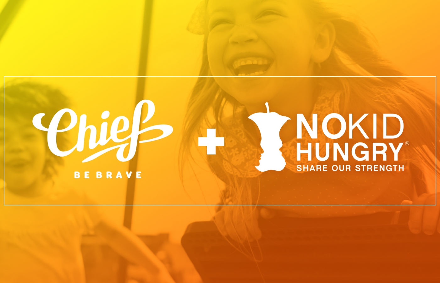 chief and no kid hungry branded banner
